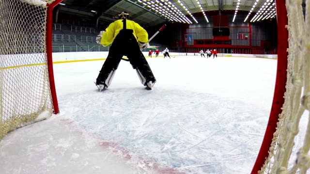 hd:shot of ice hockey team scoring - hockey glove stock videos & royalty-free footage