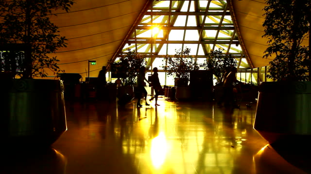 HD:Silhouette scene for traveller at the airport.
