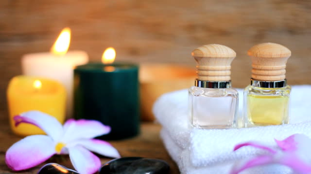 hd:spa still life of massage oil. - scrubbing stock videos & royalty-free footage