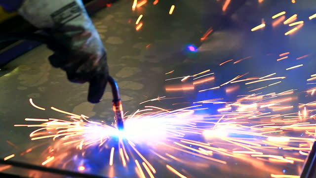 hd:spot welding work. - spotted stock videos & royalty-free footage