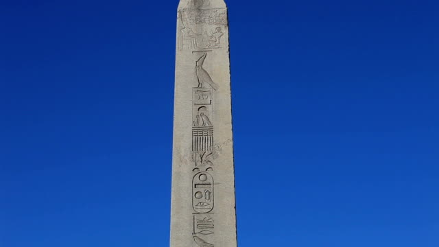 hd:the obelisk of theodosius  istanbul, turkey - obelisk stock videos & royalty-free footage