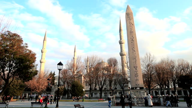 hd:the obelisk of theodosius,  istanbul, turkey - obelisk stock videos & royalty-free footage