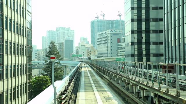 hd :time lapse (低速度撮影):電車移動することができます。 - モノレール点の映像素材/bロール