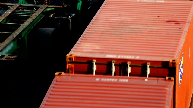 hd:train cargo moving by train with top view. - rail freight stock videos and b-roll footage