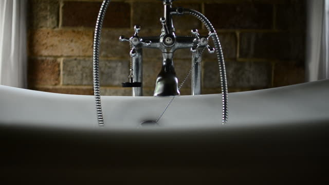 hd:vintage bathtub in bathroom - condensation stock videos and b-roll footage