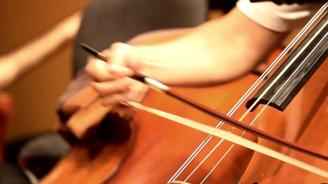 vídeos de stock, filmes e b-roll de hd: violino violoncelo jogadores. - teatro clássico