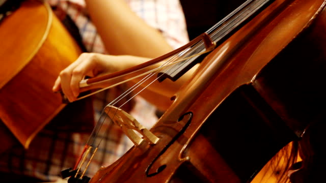 HD: Violine cello Spieler.