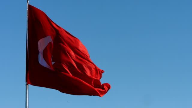 vidéos et rushes de hd :  agitant le drapeau turc - drapeau turc