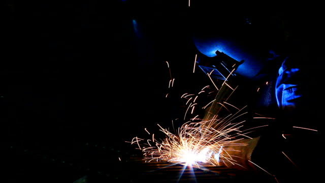 hd:welding work. - metal industry stock videos and b-roll footage