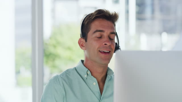 he always takes great care in resolving queries - headset stock videos & royalty-free footage