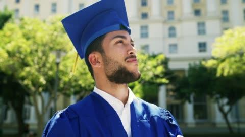 han trodde han kunde så han gjorde - examen bildbanksvideor och videomaterial från bakom kulisserna