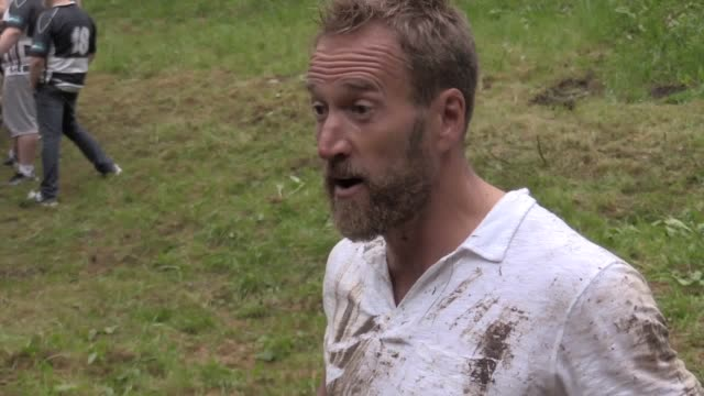 he has rowed the atlantic, run across the sahara desert and trekked the antarctic but ben fogle has ticked off another feat - chasing an 8lb cheese... - steep hill stock videos & royalty-free footage
