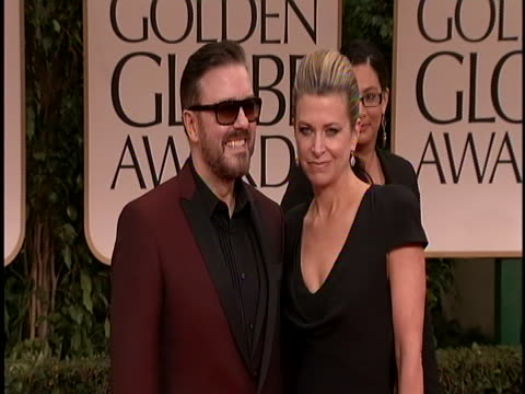 he is wearing a dark burgundy tux and sunglasses - ricky gervais stock videos & royalty-free footage