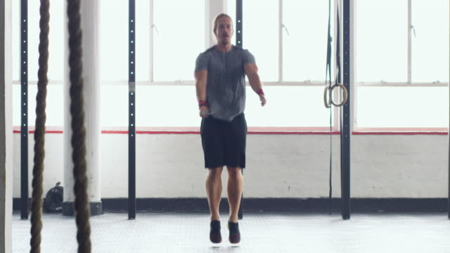he never skips a workout session - skipping along stock videos & royalty-free footage