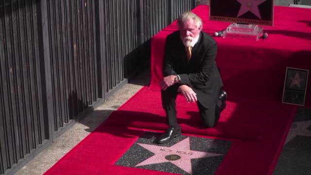 He played a suicidal bum in Down and Out in Beverly Hills but Nick Nolte is being crowned king of Hollywood with a star on the iconic Walk of Fame
