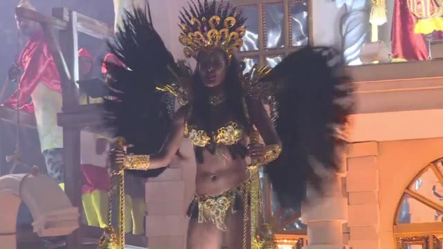 he sao clemente samba school portrays a famous corruption scandal during the time of france's king louis xiv a story that will resonate in a country... - samba school stock videos and b-roll footage