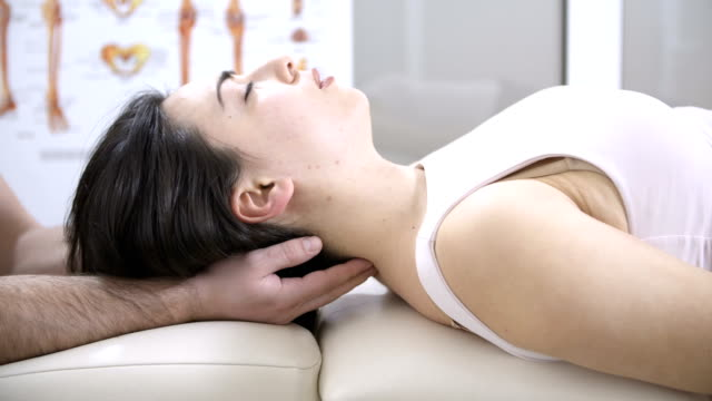 head chiropractic massage - chiropractic adjustment stock videos & royalty-free footage