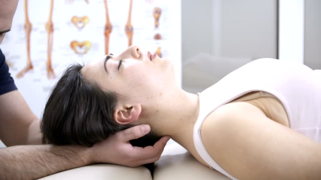 head chiropractic massage - osteopath stock videos & royalty-free footage