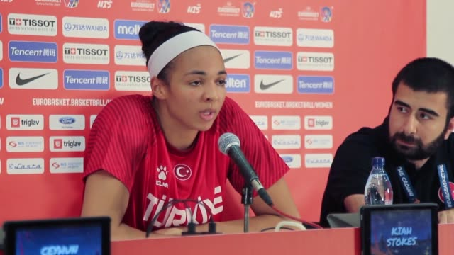head coach ceyhun yildizoglu of turkey speaks during press conference after the fiba women's eurobasket 2019 group c match between turkey and italy... - addition key stock videos & royalty-free footage