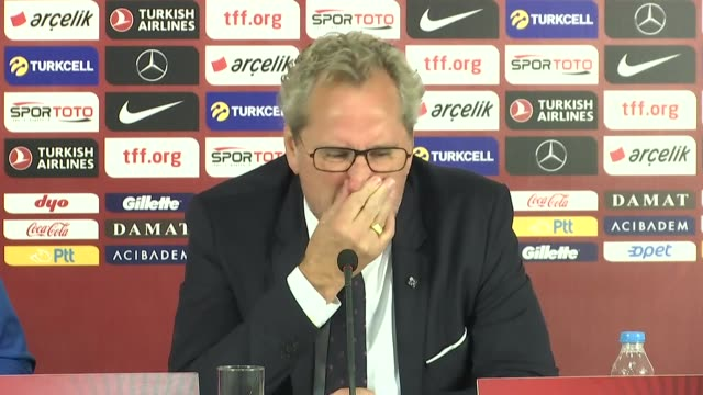 head coach erik hamren of iceland holds a press conference after the uefa euro 2020 qualifiers group h match between turkey and iceland at turk... - eight ball stock videos & royalty-free footage