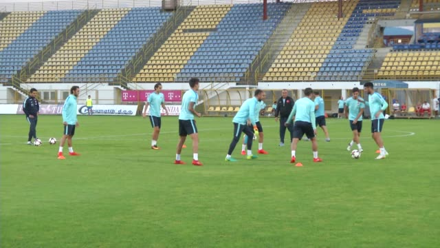 head coach fatih terim of turkey national team leads a training session of his team prior to uefa 2018 world cup qualifying match between croatia and... - national team stock videos & royalty-free footage