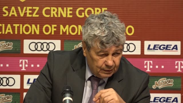 head coach mircea lucescu of turkey's national soccer team speaks during a press conference after an international friendly soccer match between... - international team soccer stock videos & royalty-free footage