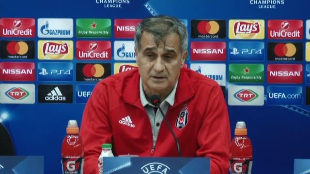Head coach Senol Gunes of Besiktas holds a press conference ahead of UEFA Champions League Group G match between Besiktas and Porto at Vodafone Park...