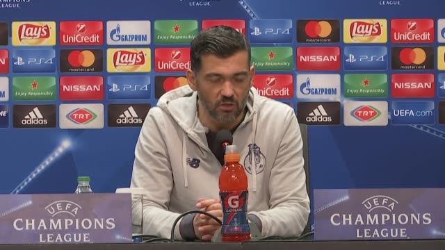 Head coach Sergio Conceicao of Porto holds a press conference after the UEFA Champions League Group G soccer match between Besiktas and Porto at the...