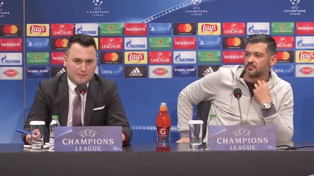 Head coach Sergio Conceicao of Porto holds a press conference ahead of UEFA Champions League Group G match between Besiktas and Porto at Vodafone...