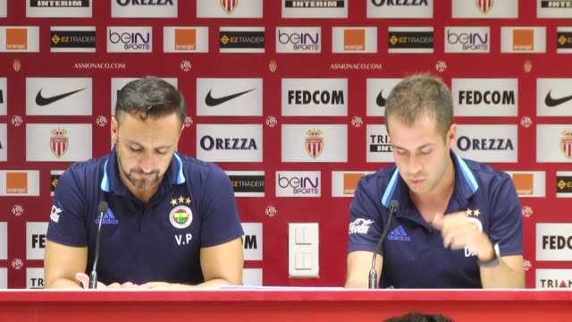 Head coach Vitor Pereira of Fenerbahce holds press conference after UEFA Europa League Third qualifying round secondleg match between Monaco and...