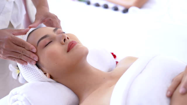 head massage to relax - head massage stock videos and b-roll footage