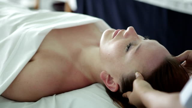 head massage - facial massage stock videos and b-roll footage
