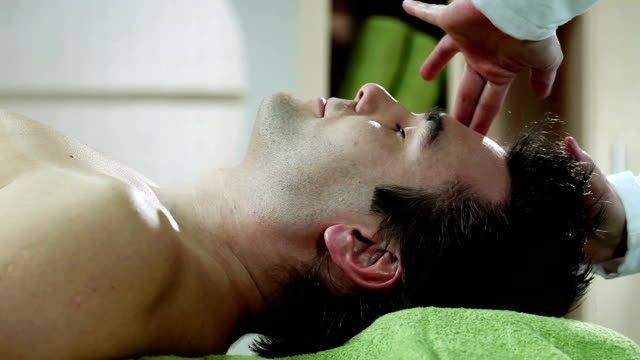 head massage - head massage stock videos and b-roll footage
