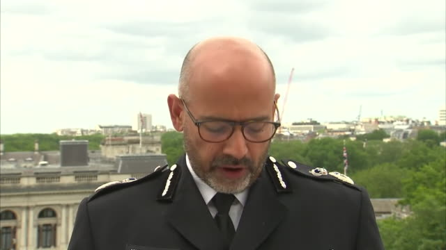 head of counter terrorism policing, neil basu, saying officers believe khairi saadallah acted alone in the reading stabbing terrorist attack - crime and murder stock videos & royalty-free footage
