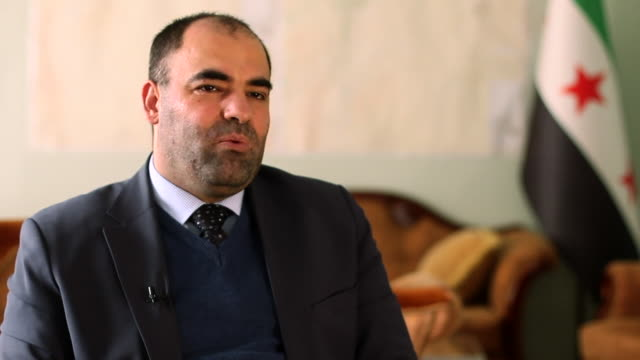 head of idlib health directorate, munzer al khalil, saying idlib does not have the resources to cope with coronavirus - civil war stock videos & royalty-free footage