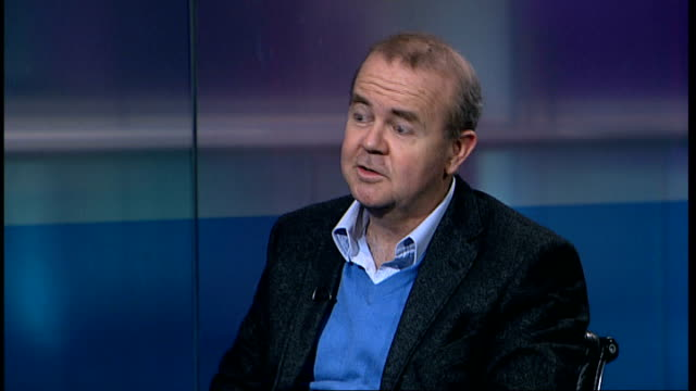 head of national audit office retires amid criticism of expenses spending; london: gir: int ian hislop studio interview sot - ian hislop stock videos & royalty-free footage