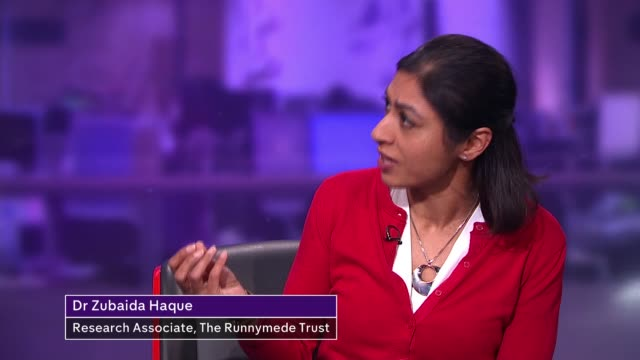 Head of Ofsted backs headteacher over hijab ban ENGLAND London GIR INT Amina Lone LIVE 2WAY interview ex Manchester SOT Dr Zubaida Haque LIVE STUDIO...