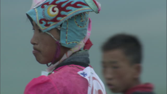 head of rider at naadam horse festival, - traditional clothing stock videos & royalty-free footage