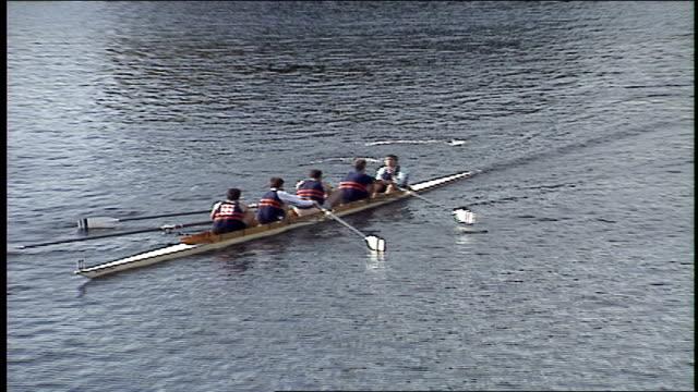 head of the charles regatta in boston - regatta stock-videos und b-roll-filmmaterial