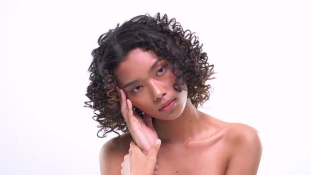 head shot confident dark skin woman - scar stock videos and b-roll footage