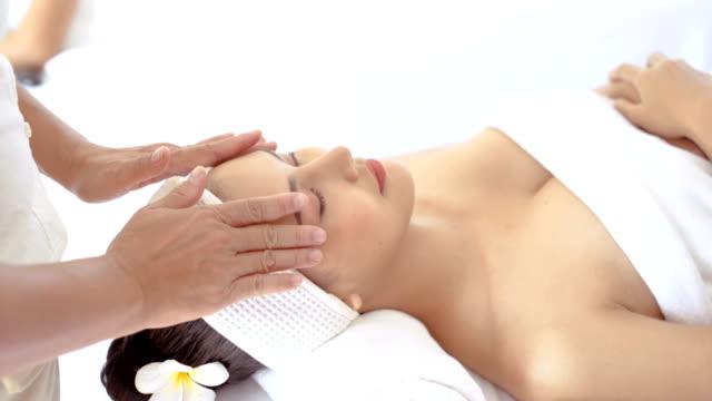 head spa massage relax - head massage stock videos and b-roll footage