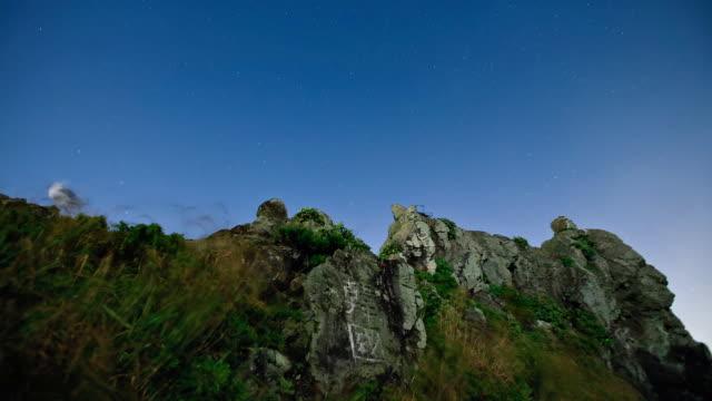 ws zi t/l head stone in dokdo island / uleunggun, gyeongsangbukdo, south korea  - north gyeongsang province stock videos & royalty-free footage