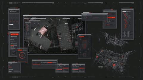hud - head up display - stadsbild - armé bildbanksvideor och videomaterial från bakom kulisserna