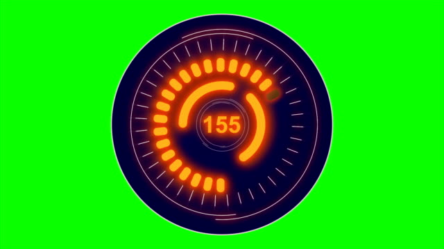 head up display of futuristic car interface with speed alpha overlay green box - head up display parte di veicolo video stock e b–roll