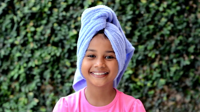 Head Wrapped in towel