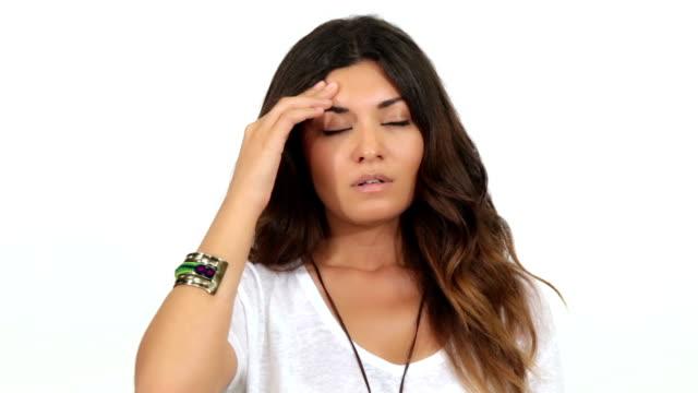vídeos de stock, filmes e b-roll de dor de cabeça - músculo humano