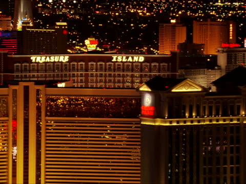heading behind and looking back at the casinos - the mirage las vegas stock videos & royalty-free footage