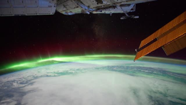 heading towards aurora australis - astronaut stock videos & royalty-free footage