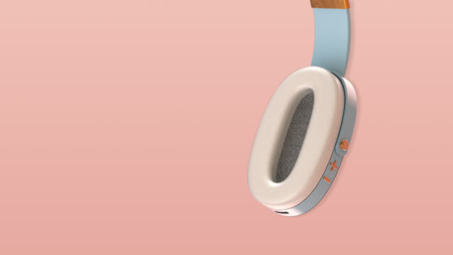 headphones 3d background loopable - early rock & roll stock videos & royalty-free footage