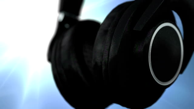 headphones and sound wave - sound wave stock videos & royalty-free footage